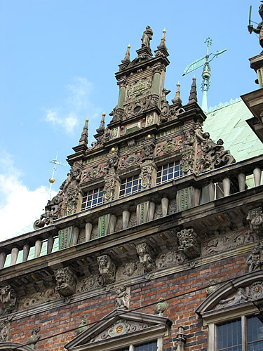 Renaissance-Fassade des Bremer Rathauses