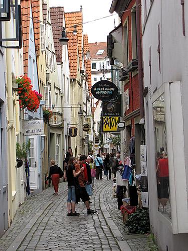 Der älteste Stadtteil von Bremen ist das Schnoorviertel