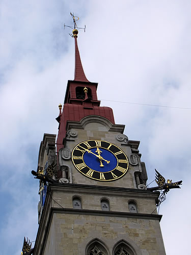 Turm der Stadtkirche in Winterthur