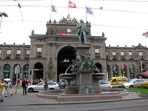 Der Hauptbahnhof in Zürich