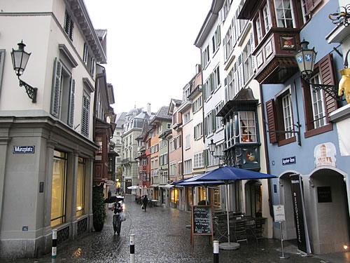 In der Altstadt von Zürich