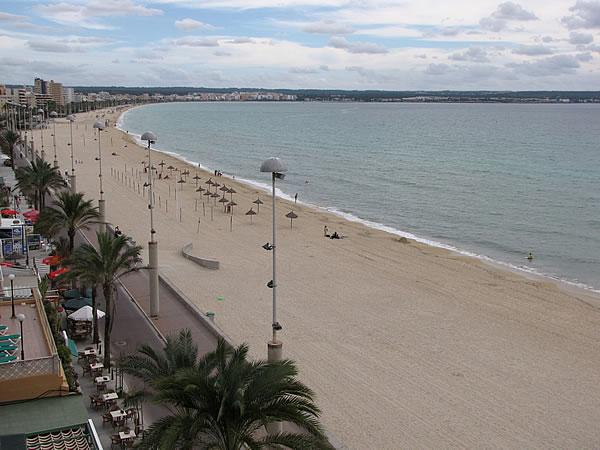 Blick über die Playa de Palma Richtung L'Arenal