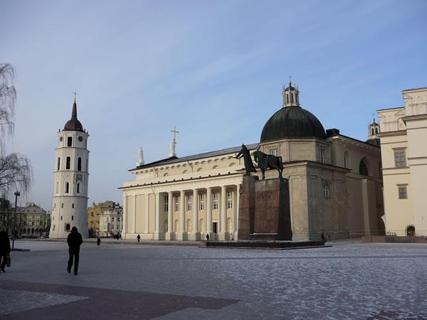 Am Ende der Altstadt befindet sich der Kathedralen-Platz