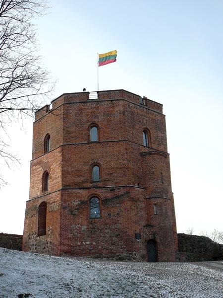 Der Gediminas-Turm auf dem Burgberg