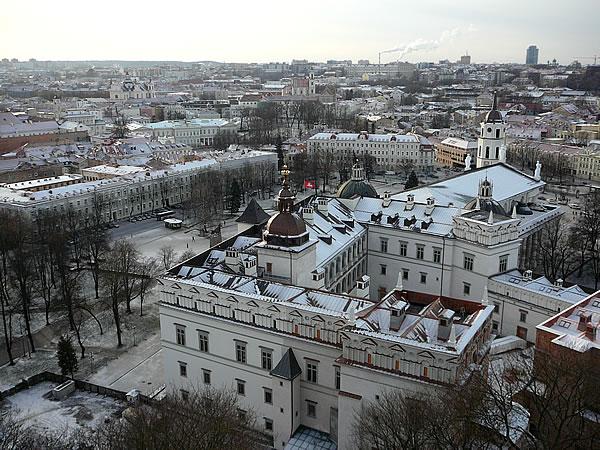 Blick vom Gediminas-Turm auf den Großfürstenpalast