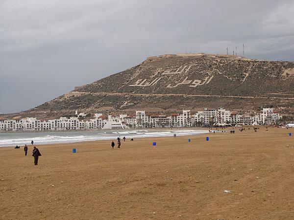 Das (einzige) Highlight von Agadir ist der Sandstrand