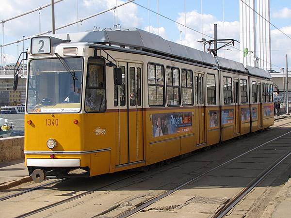 Straßenbahn in Budapest