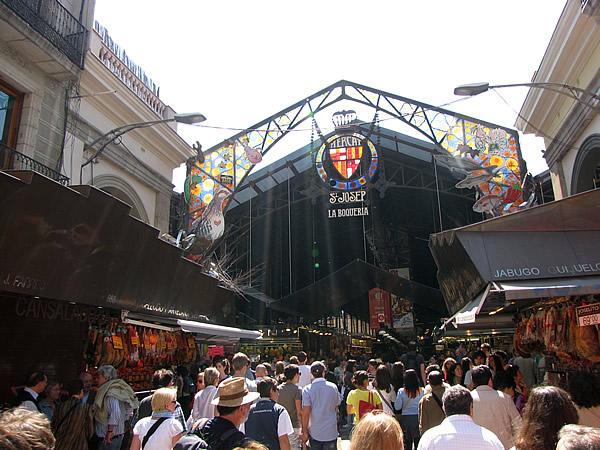 """Die Markthalle """"La Boqueria"""" an der Rambla"""