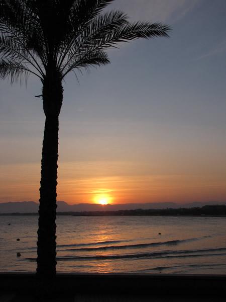 Sonnenuntergang an der Costa Daurada