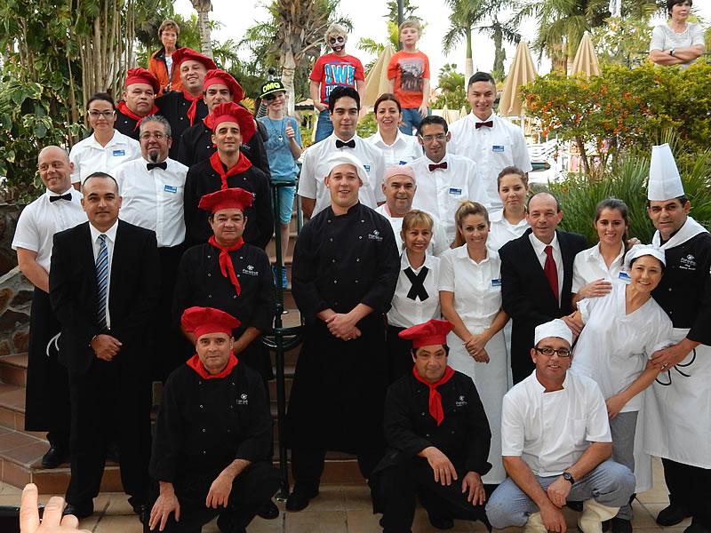 Das Küchenteam des Club Calimera Esplendido leistet hervorragende Arbeit