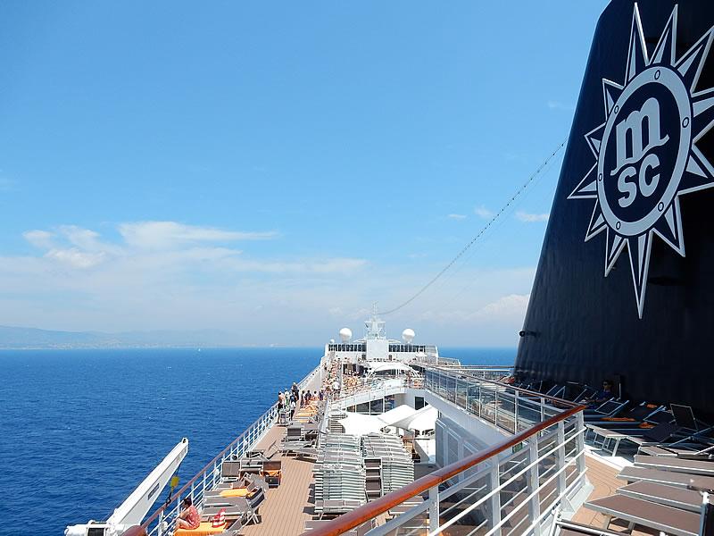 Ein MSC Kreuzfahrtschiff