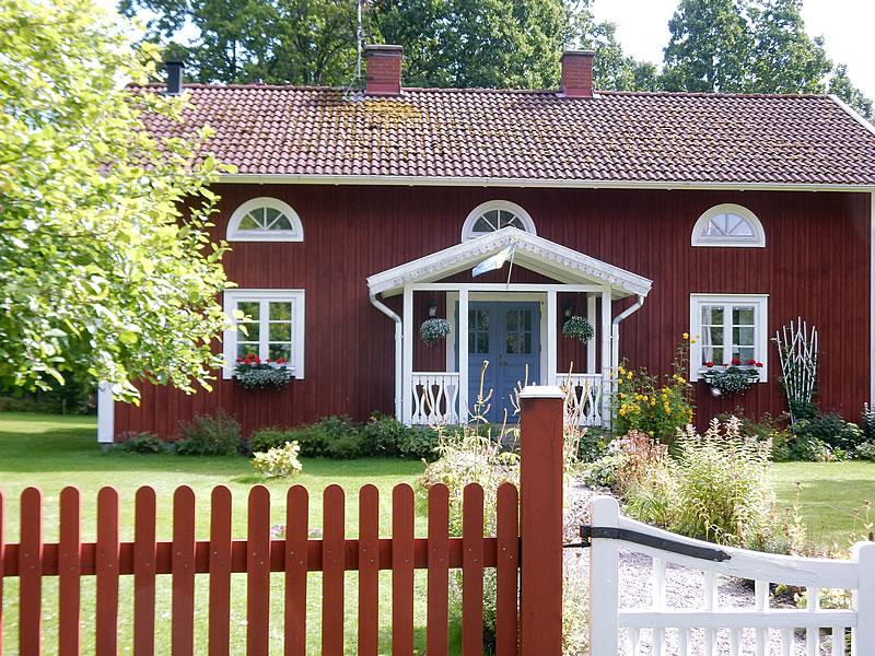Typisches Holzhaus in Süd-Schweden