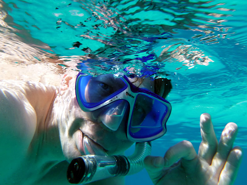 Mario beim Schnorcheln im Roten Meer vor Hurghada