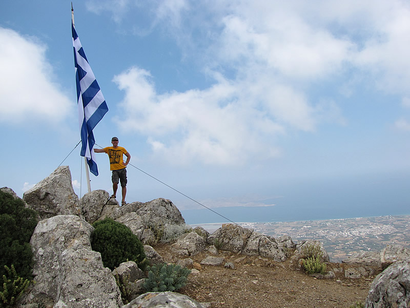 Auf dem Gipfel des Dikeos