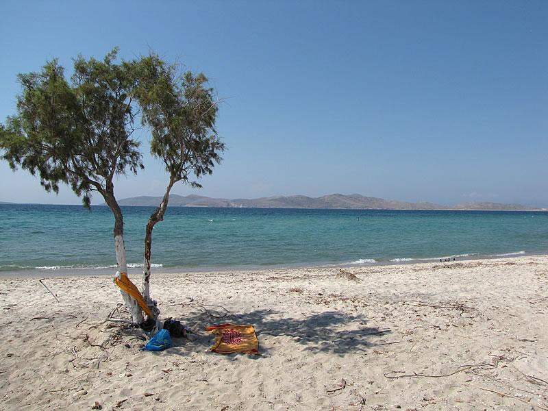 Mein Schattenplätzchen am Marmari Beach