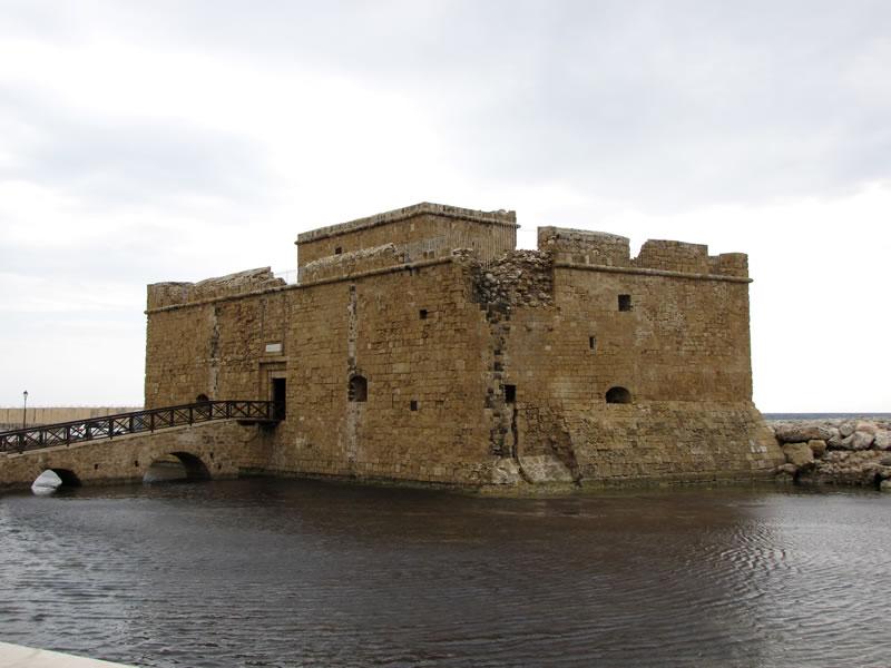 Das Wahrzeichen von Paphos, das mittelalterliche Kastell
