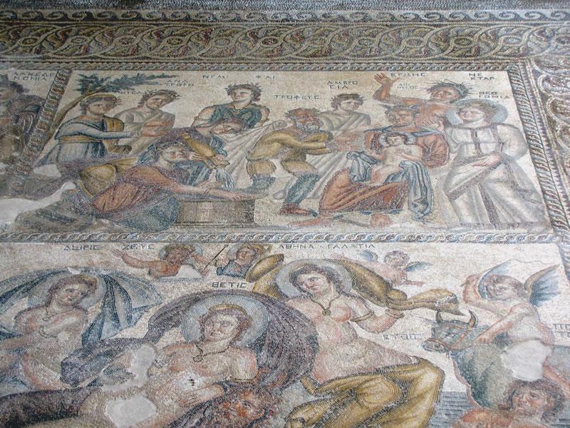 Römischen Bodenmosaiken im Archäologischen Park