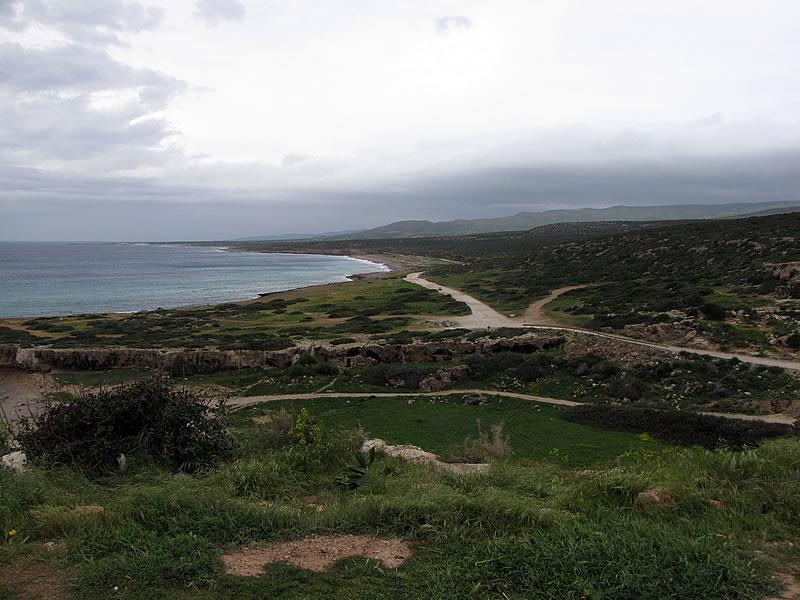 Die Küste nördlich von Paphos